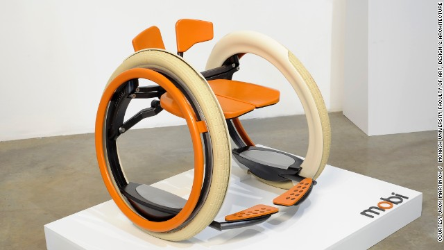 Australian design student Jack Martinich has given the wheelchair a makeover. It not only looks like a product of the 21st century, but it behaves like one too. The Mobi chair has an automatic folding mechanism so it can easily be taken in and out of the car or stored at home when not in use.