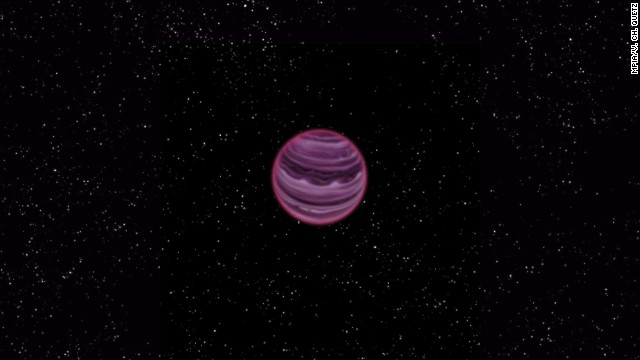 An artist's impression of free-floating planet PSO J318.5-22.