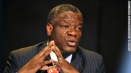 Pioneering Democratic Republic of Congo doctor Denis Mukwege, who founded a clinic for rape victims in the DRC, gives a press conference dedicated to sexual violence in the East of the country on March 12, 2013 in Kinshasa.