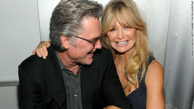 Actor Kurt Russell, 62, and partner Goldie Hawn, 67, are championed as one of the happiest unmarried couples around. Whenever we see them, they're always beaming. Onlookers at a New York movie premiere in September commented that the two could hardly keep their hands off one another.