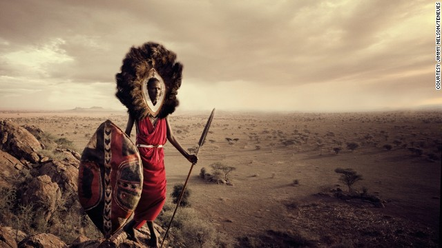 From a very early age, the Maasai boys learn the responsibilities of being a man and a warrior. The Maasai live in Kenya and Tanzania.