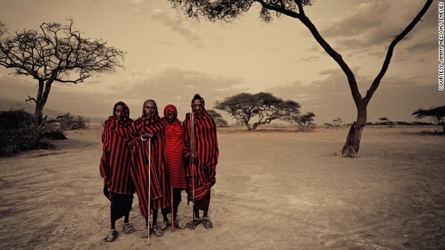 The British photographer visited one of the last great warrior cultures -- the Maasai (pictured). The Maasai are one of Africa's best-known tribes.
