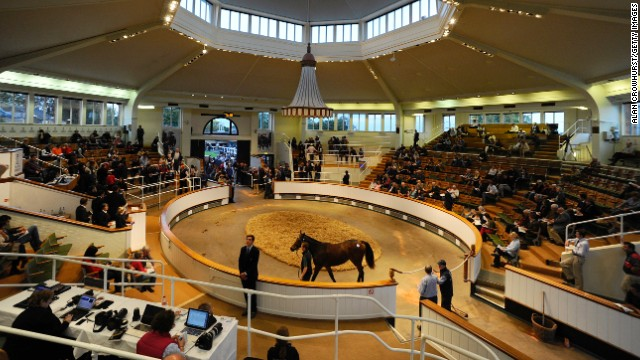 The October yearlings sale at Tattersalls auction house in England saw a number of auction records broken in brisk trade.