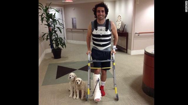 Dario Franchitti was released from Memorial Hermann-Texas Medical Center on Thursday.