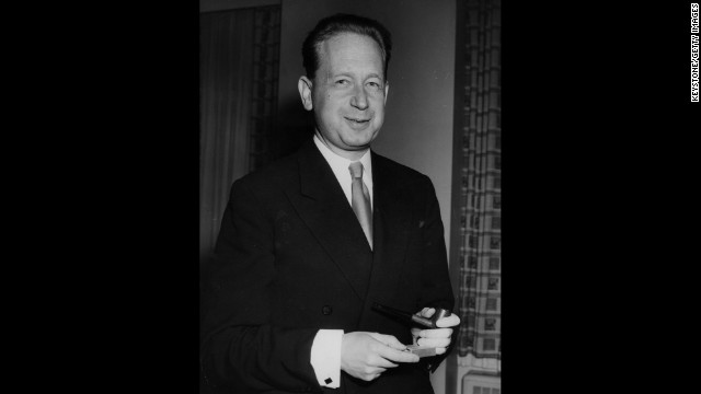 Dag Hjalmar Agne Carl Hammarskjold, Swedish politician and second U.N. Secretary General, won the Nobel Peace Prize in 1961.