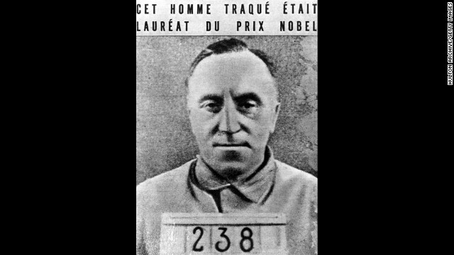 Carl Von Ossietzky, seen here in a concentration camp uniform, won the Nobel Peace Prize in 1935.