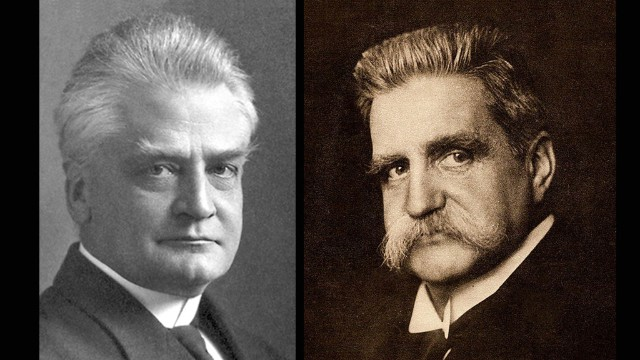 Christian Lous Lange, left, and Karl Hjalmar Branting won the Nobel Peace Prize in 1921 for promoting global peace.