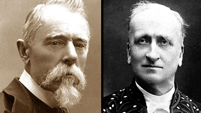 The Nobel Peace Prize in 1907 was awarded jointly to Ernesto Teodoro Moneta, left, and Louis Renault.