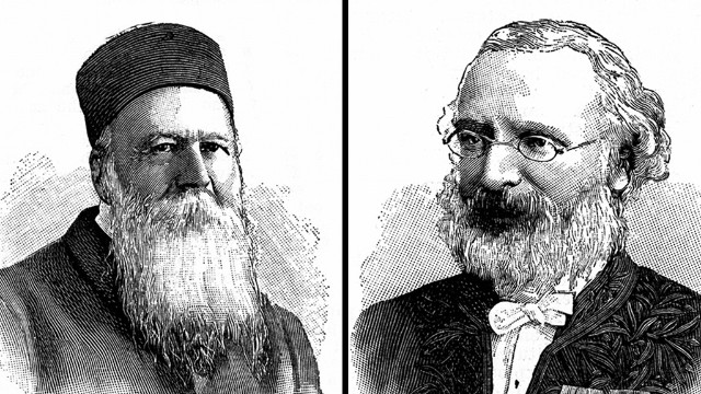 The first Nobel Peace Prize in 1901 was awarded jointly to Jean Henry Dunant, left, and Frédéric Passy.