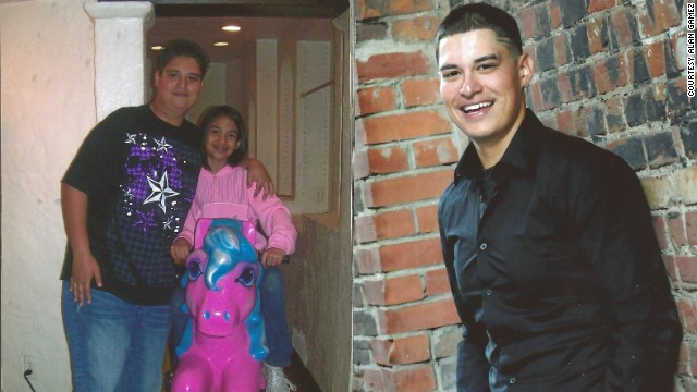 Alan Gamez, 18, took a high school class that motivated him to lose weight. He lost 100 pounds between the beginning of sophomore and beginning of junior years.
