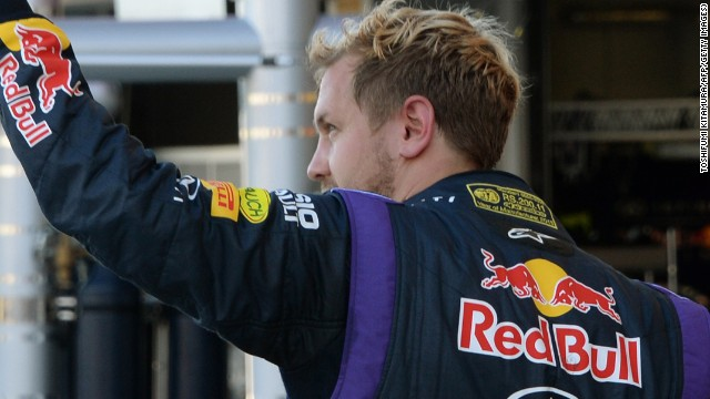 Sebastian Vettel waves to fans as he again proves quickest in practice ahead of the Japanese Grand Prix on Sunday.