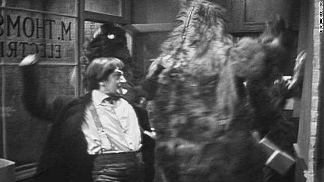 Patrick Troughton as the time-traveling Doctor fights robot yetis in a recently unearthed episode of