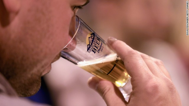 Jason Segall samples a brew at the 32nd annual Great American Beer Festival. The GABF runs October 10-12 and 49,000 attendees will be offered 3100 beers from 624 breweries.