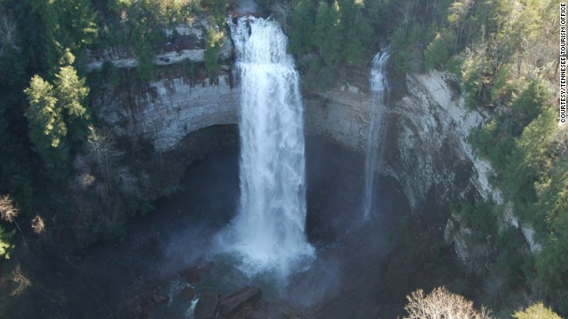 With its lovely waterfalls, Fall Creek Falls State Park is the most popular state park in Tennessee.