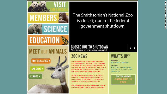 "The Smithsonian's National Zoo website states ""All the animals will continue to be fed and cared for. A shutdown does not affect our commitment to the safety of our staff and standard of excellence in animal care."""