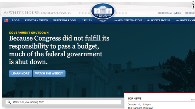 The note on the White House website points out its own faults.