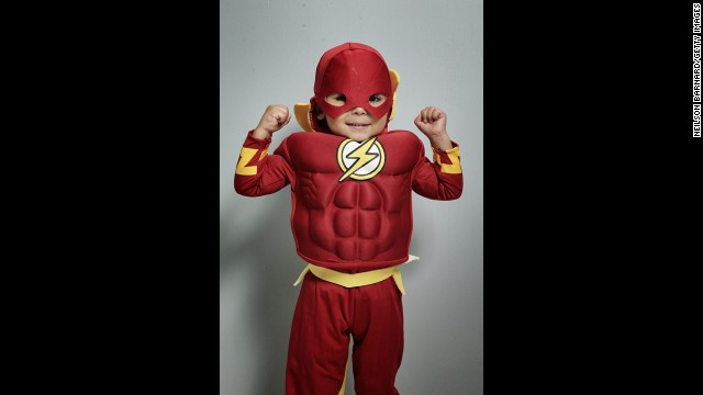 Even younger fans can take part in the fun, like this little guy dressed as DC's the Flash.