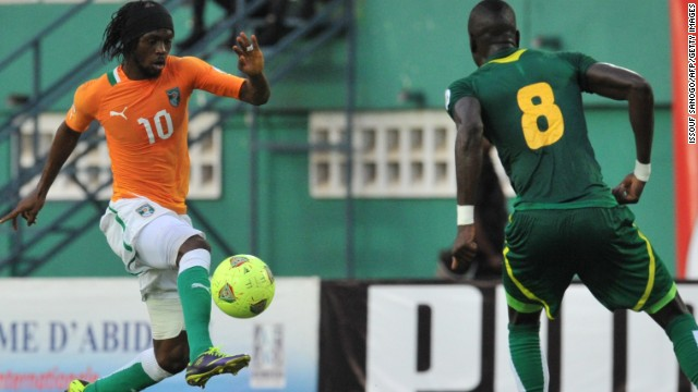 Gervinho, left, disappointed for Arsenal but he has flourished at Roma and led the Ivory Coast to a win against Senegal.