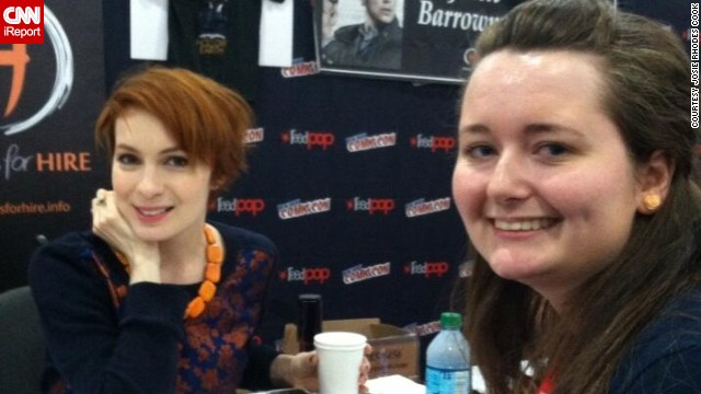 A big part of Comic Con for many fans is meeting some of their favorite celebrities. Carinna Files, right, <a href='http://t.co/QAfvobfXqE' target='_blank'>was thrilled</a> to meet Felicia Day.