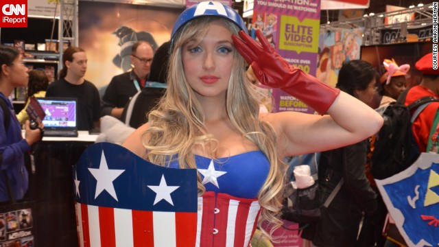 "Captain America has grown in popularity with cosplayers since his 2011 movie, and<a href='http://ireport.cnn.com/docs/DOC-1047486'> female interpretations</a> of ""Cap"" are no exception to that."