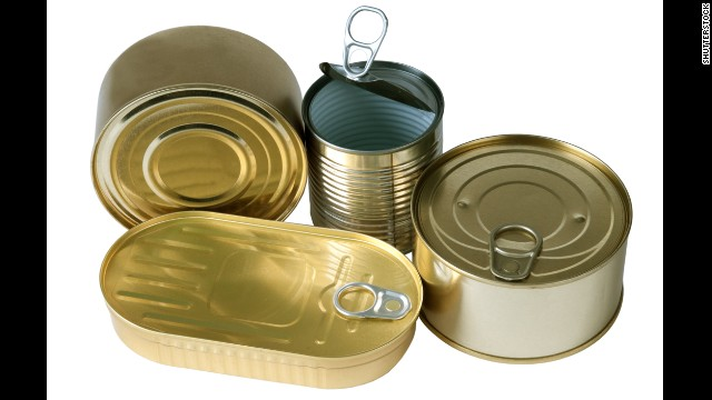 BPA epoxy resins can leach into your food from the lining of metal food cans. In <a href='http://www.cdc.gov/biomonitoring/BisphenolA_FactSheet.html' target='_blank'>one CDC study</a>, researchers found traces of BPA in the urine of nearly all 2,517 participants.