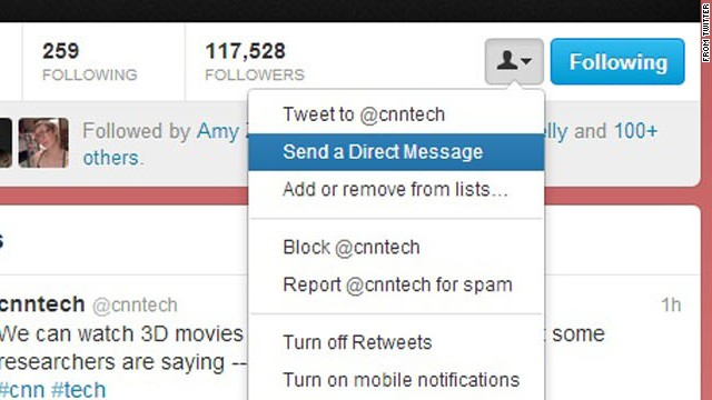 Under a change on Twitter, you may be able to send a direct message to someone who doesn't follow you.