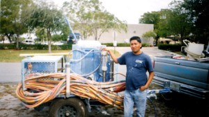Before he was deported to Nicaragua, Ronald Soza owned his own dry wall finishing business.