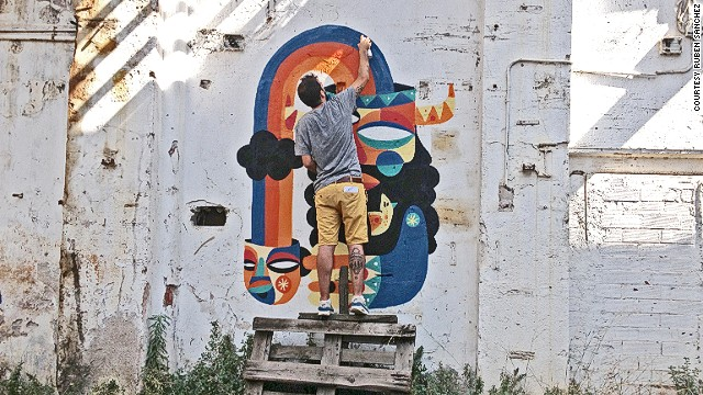 Graffiti art in Dubai is experiencing a kind of explosion. Spanish street artist Ruben Sanchez came to they city as part of Tashkeel's artist residency program. He has striven to add color to the city with his Cubist-style murals.