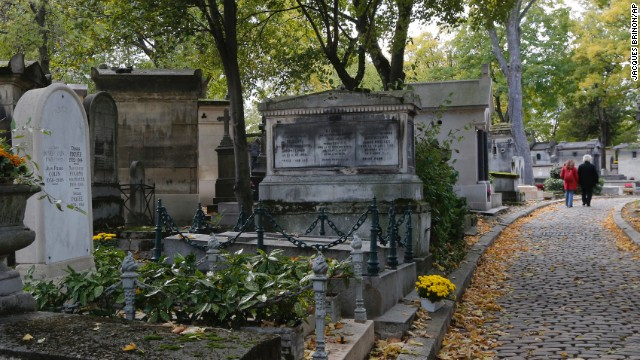 Established by Napoleon in 1804, Père-Lachaise has many famous permanent residents, including Marcel Proust, Oscar Wilde and Jim Morrison.
