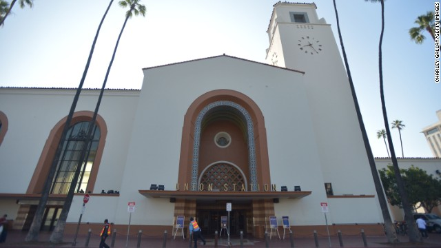 Union Station in Los Angeles may look like little more than a sleepy Spanish colonial church, but it's one of California's busiest transport hubs. More than 60,000 travelers pass through the station every day, taking in the station's ornate waiting rooms and manicured gardens along the way.