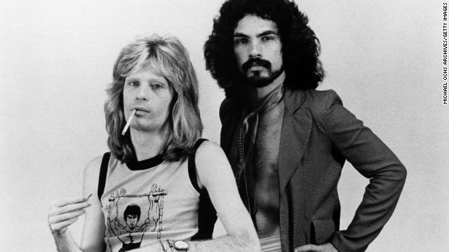 "Daryl Hall, left, and John Oates started as a soul-and-rock duo in the mid-1970s with hits such as ""Sara Smile"" and ""She's Gone."" (Incidentally, Hall thought Oates' initial drafts of ""She's Gone""<a href='http://www.cnn.com/2009/SHOWBIZ/Music/10/12/hall.oates/'> ""reminded me of a Cat Stevens song.""</a>) Hall & Oates became one of the biggest acts of the 1980s with songs such as ""Kiss on My List,"" ""I Can't Go for That (No Can Do)"" and ""Out of Touch."""