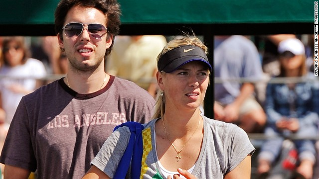 Like Clijsters, Maria Sharapova found love on the basketball court. The four-time grand slam winner got engaged to former Los Angeles Lakers star Sasha Vujacic, before ending her relationship with the Slovenian in 2012.