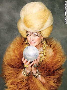 "Bedecked in crystals and stars for the cover of ""The Best of Martha Stewart: Halloween Handbook,"" Martha radiates spectral sophistication as a <a href='http://www.marthastewart.com/921657/marthas-spellbinding-sorceress-costume?czone=holiday%2Fhalloween-center%2Fhalloween-center-costumes&gallery=274207&slide=921657&center=276965?xsc=synd_cnn' target='_blank'>spellbinding sorceress</a>."