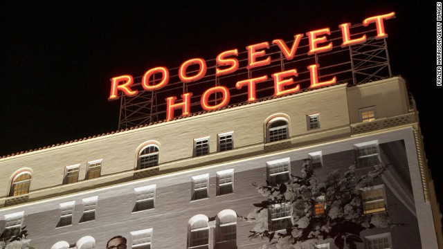 Book the Marilyn Monroe package for a chance to spot the star at the Hollywood Roosevelt Hotel.