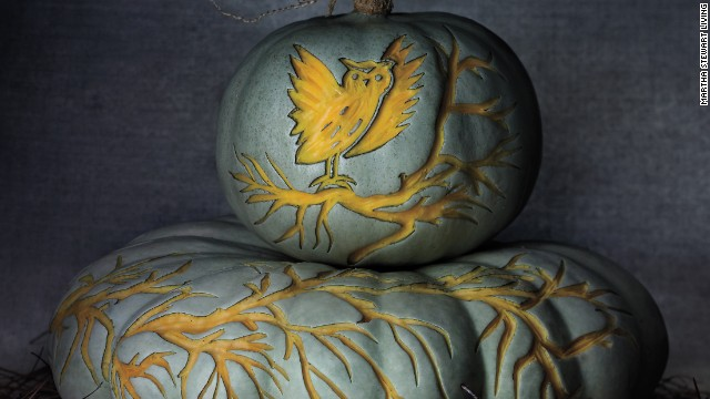 The clip-art designs here, created by crafts editor Marcie McGoldrick and professional carver Marc Evan, show how the same things that attract you to textiles and prints—strong images, repeating graphics—make for a beautiful pumpkin.