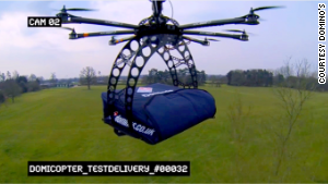 Domino\'s has tested the possibility of delivering pizza via the DomiCopter drone