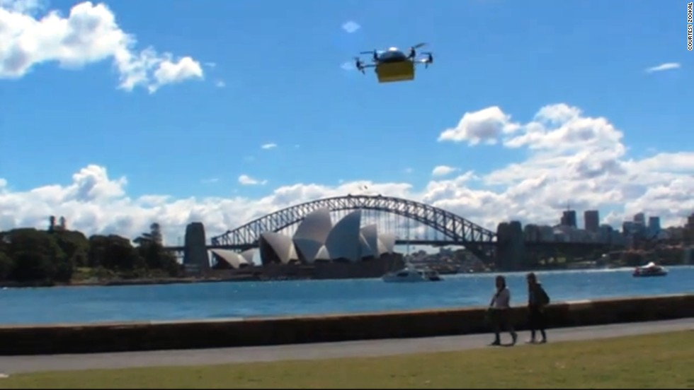 <strong>Express delivery:</strong> Australian textbook rental service <a href='http://www.zookal.com/' target='_blank'>Zookal</a> make good on UAV's (unmanned aerial vehicles) promise to provide lightning-speed personal deliveries. French postal service La Poste claimed to be launching a newspaper delivery drone service in April -- <a href='http://www.huffingtonpost.com/2013/04/02/drone-mail-delivering-france_n_2332639.html' target='_blank'>only to reveal it as a hoax</a>. But Zookal looks to be the real deal, offering Sydney students the chance to have their textbooks dropped at any location.