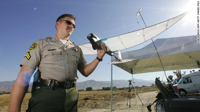 <strong>Search and rescue:</strong> need a tireless search party? Why not drones, which could be pre-programmed to scan an area, leaving no stone unturned. Los Angeles County Sheriff's Department began experimenting with the SkySeer Search and Rescue drone <a href='http://news.cnet.com/2300-11394_3-6085259.html' target='_blank'>as early as 2006</a>, and British mountain rescue teams are testing a <a href='http://www.bbc.co.uk/news/uk-england-cumbria-23327168' target='_blank'>crowd-sourcing approach to spotting stranded climbers</a>.