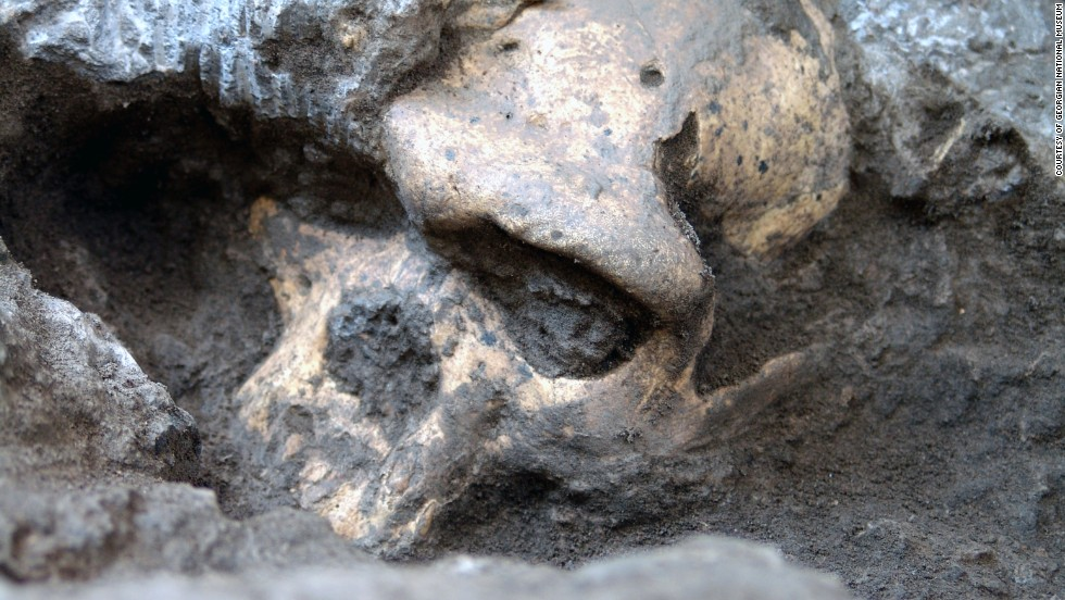Researchers have discovered the fossilized skull of an early human relative, which they say is the most complete skull ever of the early Homo genus, in Dmanisi, Georgia. They say it could represent a single evolving Homo erectus lineage that came out of Africa and spread into Europe and Asia -- a conclusion that is controversial.