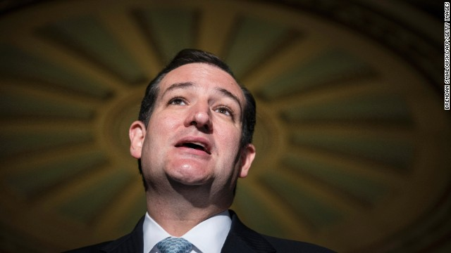 Cruz speaks to reporters on Capitol Hill on October 16.