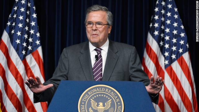 Former Florida Gov. Jeb Bush has said his decision to run for the Republican nomination will be based on two thin