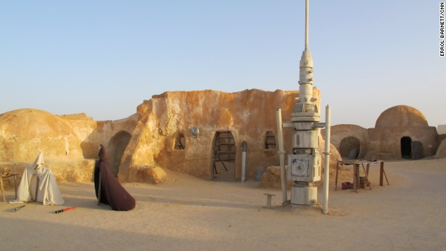 It is a pilgrimage destination for Star Wars fans from around the world, with Jedi Knight capes and lightsabers on display.
