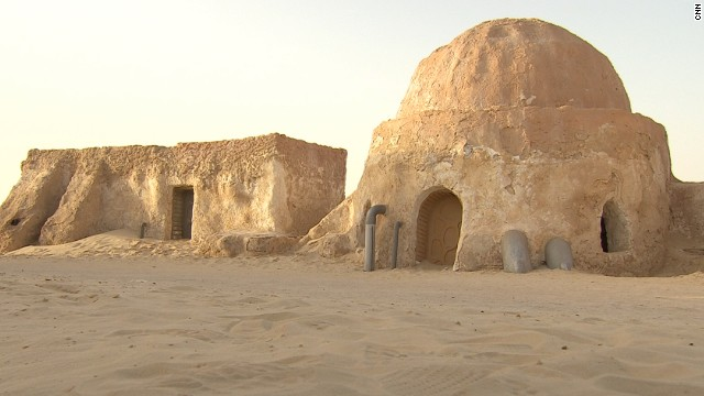 The planet Tatooine has two suns and was the birthplace of Anakin Skywalker. By request of the Tunisian government, the set for Anakin Skywalker's hometown Mos Espa was left intact in the Sahara desert.