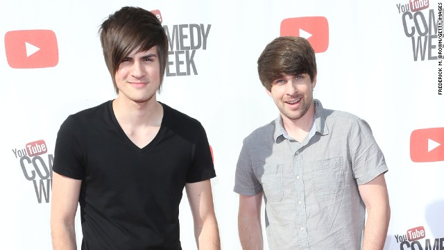 "Anthony Padilla, left, and Ian Hecox form the comedy duo <a href='http://www.youtube.com/smosh' target='_blank'>""Smosh,""</a> who started by simply lip-syncing old kids' TV theme songs. Now they have an astonishing 12.9 million subscribers on YouTube."