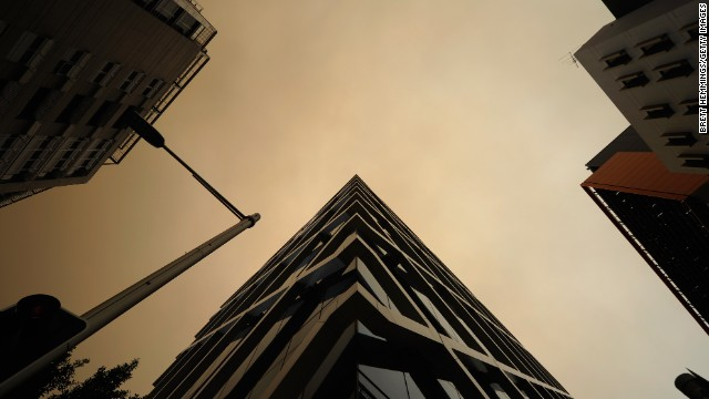 Smoke fills the sky over Sydney on October 17.