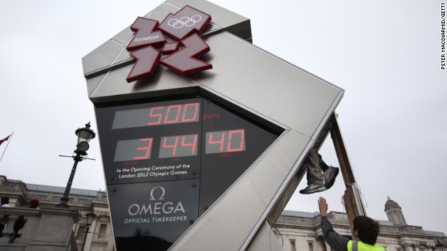 Shortly after the countdown clock for the 2012 London Olympics was unveiled, the silly thing started malfunctioning. Technicians eventually figured it out.