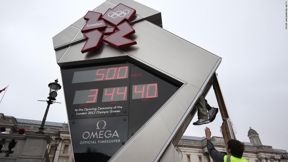 El reloj de los Olímpicos de Londres