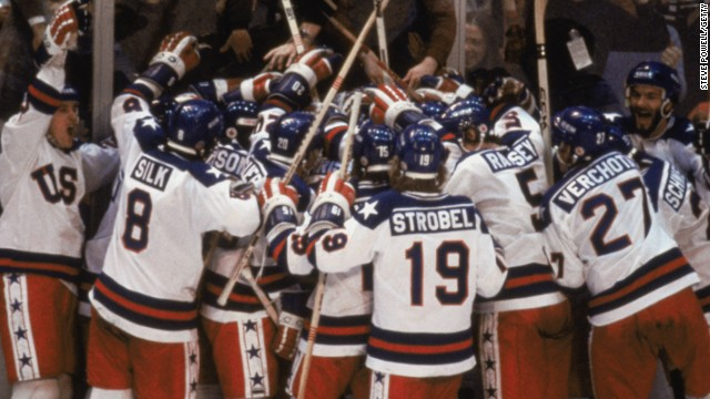 "On February 22, 1980, from the Winter Games in Lake Placid, New York, with 30 seconds remaining, the TV broadcast popped the game clock into the upper left corner of the screen so Americans could watch Team USA defeat the Soviet Union 4-3. ""Do you believe in miracles?"""