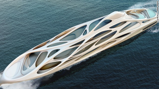 Hadid's signature curves offer a significant departure from a traditional yacht and bear more than a passing resemblance to the King Abdullah Financial District Metro Station she designed in Riyadh, Saudi Arabia.