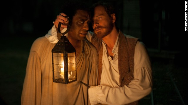 Chiwetel Ejiofor stars as Solomon Northup and Michael Fassbender stars as Edwin Epps in